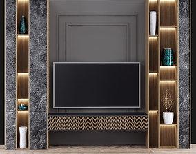 3D model modern tv wall 04
