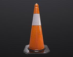 Traffic Cone 3D asset VR / AR ready