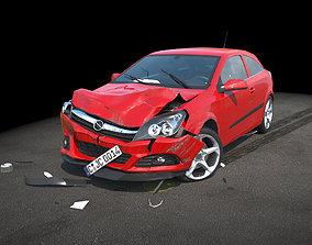 Crashed Car 2 3D model automotive