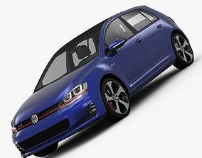 Volkswagen Golf 7 GTI 5-Door 2014 mk7 3D model