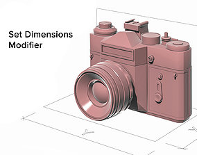 Set Dimensions Modifier 3dsMax