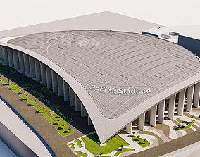 SoFi Stadium California USA 3D model