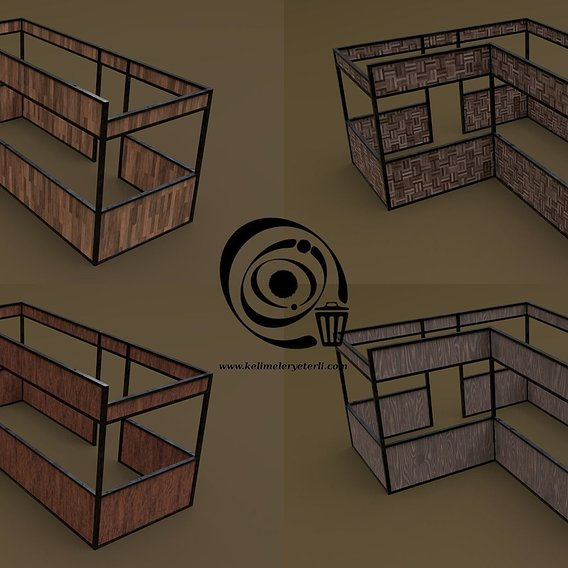 Stall stand 15 4in1 RR - 4 PBR Texture 1 Model