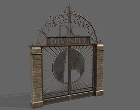 3D model low-poly Old Metal Gate