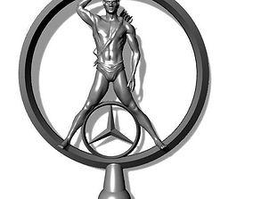 Mercedes-benz sign logo brooches 3D print model