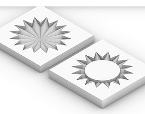 3D print model Geometric Circle Coaster Mold for Casting