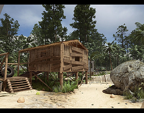 Tropical Village 3D model