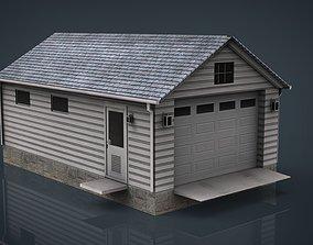 Detached Garage 3D model