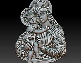 Virgin Mary and Child 3D printable model