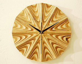stl-file Wall clock 3d model for CNC router P4-001