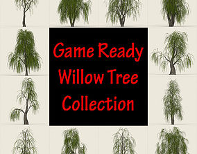 Game Ready Willow Tree Collection 3D model