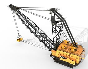 3D asset Dragline crane