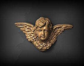 wings 3D print model Angel Pendant
