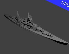 German Scharnhorst Class Battleship 3D print model