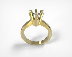 Jewelry Engagement Ring With Brilliant 3D print model