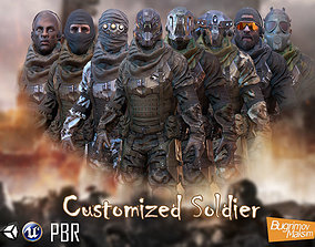 3D asset PBR Customized Soldier