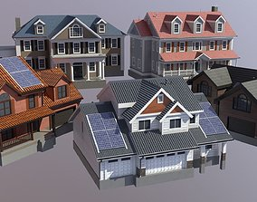 3D model Modern Suburban House Collection
