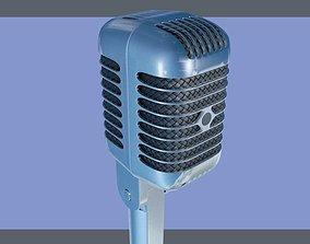 electronics Shure retro microphone 3D model