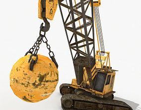 3D asset game-ready Crawler Crane
