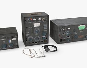 3D asset VR / AR ready German Radio WWII