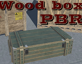 Wooden Crates 3D asset low-poly PBR