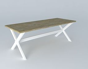 Dining table Calvi Maisons du monde 3D model