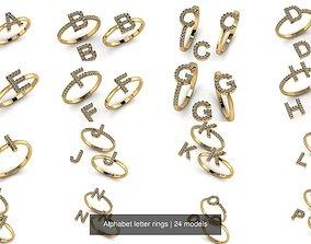 3D model Alphabet letter rings