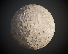 3D Concrete Wall Cracked Rough Damaged Seamless PBR