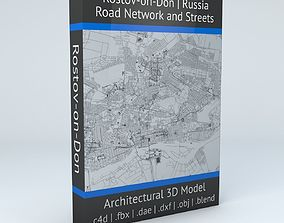 3D Rostov on Don Road Network and Streets infrastructure