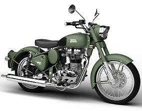 Royal Enfield Classic Battle Green 2016 3D model