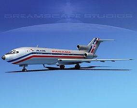 3D Boeing 727-100 Air Panama