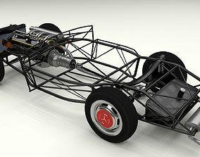 3D model Full Mercedes 300SL chassis