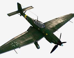 German bomber ground-attack Junkers Ju 87 Stuka 3D model