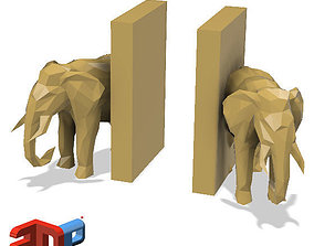 3D print model Elephant desktop bookends