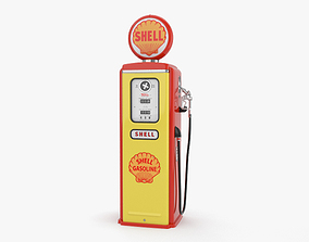 oil 3D model Gasoline Pump