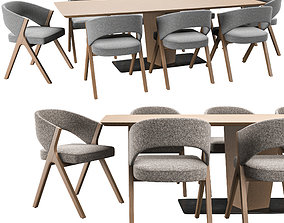 Sussan Chair And Clark Table 3D