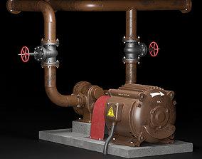 Industrial real looking gear pump for lubricating oil 3D