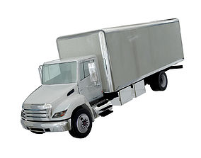 3D Hino 338 low poly box truck