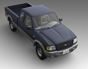 Pickup truck 3D model auto