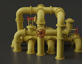 Set of pipes 3D asset