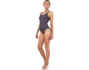 Swimming Girl 3D asset