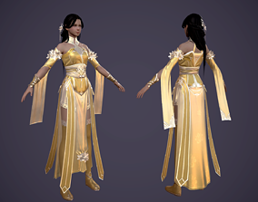 Ancient Chinese Beauty Ancient maid 3D model 3