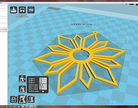 Snowflake 3D print model accessories sparkly