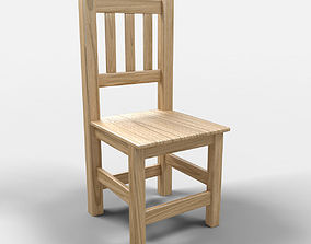 Acapulco Rustic Chair 3D