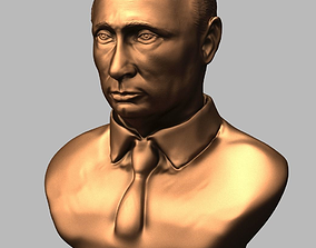3d model bronze bust of President of Russia Vladimir