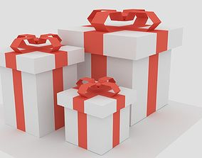 Low poly gifts 3D model