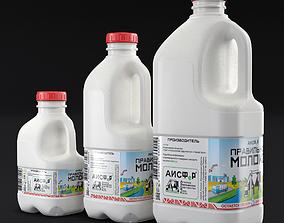3D bottle milk