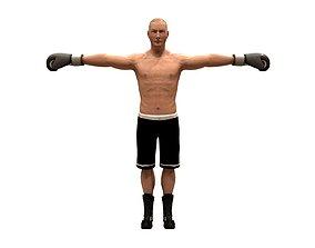 boxer rig 3D asset