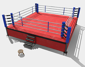 3D model Low Poly PBR Boxing Ring