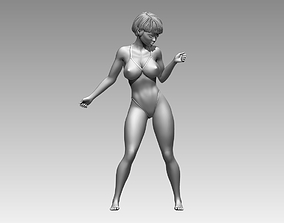 Woman body sculptures 001 stands poses 3D model